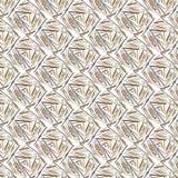 Teste padrão geométrico bege Fotografia de Stock