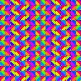 Teste padrão geométrico colorido ilustração do vetor