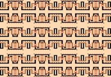 Teste padrão geométrico colorido abstrato Vector o teste padrão sem emenda ilustração stock