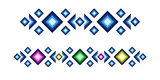 Teste padrão geométrico colorido do vetor ilustração do vetor