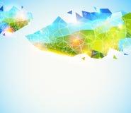 Teste padrão geométrico colorido e lustroso. ilustração do vetor