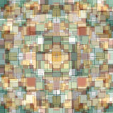 teste padrão geométrico colorido no papel de parede retro do estilo Ilustração Stock