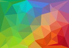 Fundo geométrico colorido, vetor Imagens de Stock
