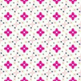 Teste padrão geométrico colorido sem emenda do vetor da flor Imagens de Stock