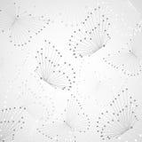 Teste padrão geométrico com linhas e os pontos conectados Fotografia de Stock Royalty Free