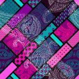 Teste padrão geométrico com paisley Imagem de Stock