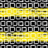 Teste padrão geométrico com quadrados pintados à mão pequenos ilustração stock