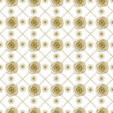 Teste padrão geométrico com rosas Imagem de Stock Royalty Free