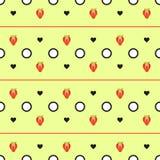 Teste padrão geométrico da morango Fotografia de Stock Royalty Free