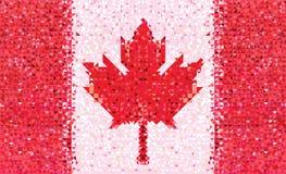 Teste padrão geométrico de Canadá da bandeira Imagem de Stock Royalty Free