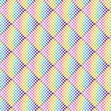 Teste padrão geométrico de intervalo mínimo colorido arco-íris sobre o fundo branco ilustração do vetor