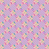 Teste padrão geométrico de matéria têxtil colorida malva dos círculos ilustração do vetor
