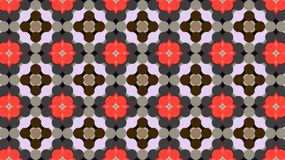 Teste padrão geométrico de matéria têxtil O teste padrão floral estilizado imagem de stock