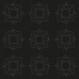 Teste padrão geométrico de repetição cinzento e preto Imagem de Stock