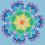 Teste padrão geométrico decorativo ilustração stock