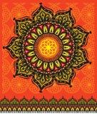 Teste padrão geométrico decorativo redondo Ilustração Stock