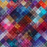 Teste padrão geométrico diagonal do grunge Imagens de Stock