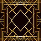 Teste padrão geométrico do art deco Foto de Stock