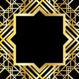 Teste padrão geométrico do art deco Fotografia de Stock
