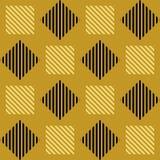 Teste padrão geométrico do art deco Vetor Fotografia de Stock