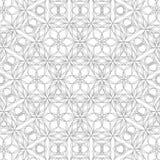 Teste padrão geométrico do contorno no fundo branco Foto de Stock