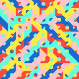 Teste padrão 1980 geométrico do estilo do pop art da forma do divertimento Imagens de Stock