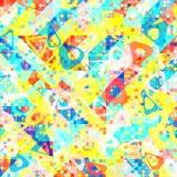 Teste padrão 1980 geométrico do estilo do pop art da forma do divertimento Fotos de Stock Royalty Free