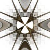 Teste padrão geométrico do Fractal. ilustração stock
