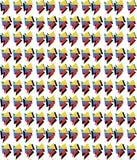 Teste padrão geométrico do Memphis-estilo da cor preliminar ilustração stock