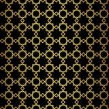 Teste padrão geométrico do ouro abstrato Textura do estilo do vintage ilustração stock