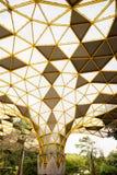 Teste padrão geométrico do pavilhão no parque botânico de Perdana, Kuala Lumpur fotografia de stock