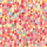 Teste padrão geométrico do triângulo do mosaico do vintage cor-de-rosa colorido surpreendente Imagens de Stock Royalty Free