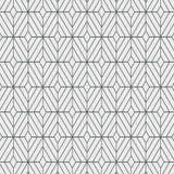 Teste padrão geométrico do vetor da decoração, repetindo a forma quadrada do diamante, à moda monocromático ilustração royalty free