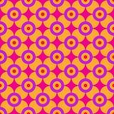 Teste padrão geométrico dos anos sessenta Fotografia de Stock Royalty Free