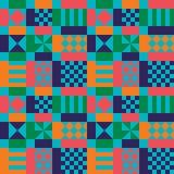 Teste padrão geométrico dos anos sessenta retros Ilustração do Vetor