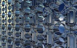Teste padrão geométrico dos tijolos de vidro ilustração stock