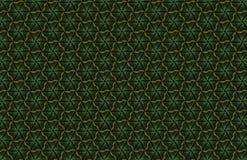 Teste padrão geométrico escuro abstrato dos prismas Textura da grade da geometria A flor de prisma figura o fundo Maro verde marr Imagem de Stock