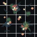 Teste padrão geométrico exótico do vecor sem emenda com pilhas, flores, penas Imagem de Stock Royalty Free