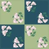 Teste padrão geométrico floral para retalhos Fotos de Stock