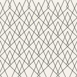 Teste padrão geométrico monocromático do vetor abstrato do conceito Fundo mínimo preto e branco Molde criativo da ilustração Imagem de Stock Royalty Free