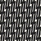 Teste padrão geométrico monocromático do vetor abstrato do conceito Fundo mínimo preto e branco Molde criativo da ilustração Fotos de Stock Royalty Free
