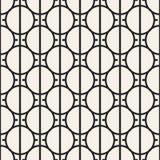 Teste padrão geométrico monocromático do vetor abstrato do conceito Fundo mínimo preto e branco Molde criativo da ilustração Imagens de Stock
