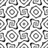 Teste padrão geométrico monocromático sem emenda do projeto Imagens de Stock