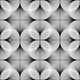 Teste padrão geométrico monocromático sem emenda do projeto Fotografia de Stock