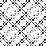 Teste padrão geométrico monocromático sem emenda do projeto Imagem de Stock Royalty Free