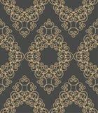 Teste padrão geométrico monocromático sem emenda do vintage Imagens de Stock