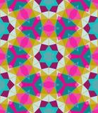 Teste padrão geométrico multicolorido na cor brilhante. Imagens de Stock Royalty Free