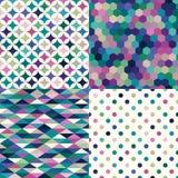 Teste padrão geométrico multicolorido sem emenda ilustração royalty free