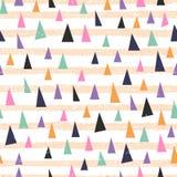 Teste padrão geométrico na moda Imagens de Stock