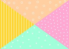 Teste padrão geométrico na moda Imagens de Stock Royalty Free